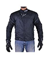 Zeus ONDRCKS058 Men's All Terrain Motorcycle Jacket (Black, X-Large)