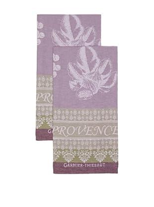 Garnier-Thiebaut Set of 2 Provence Kitchen Towels, Lavende