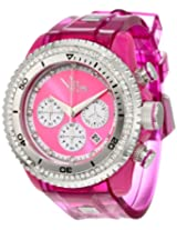 Vip Time Italy Women's VP8032PK Charme Lady Sporty Chronograph Watch