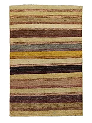 Bashian Rugs Hand Knotted One-of-a-Kind Pak Gabbeh Rug, Multi, 3' 9