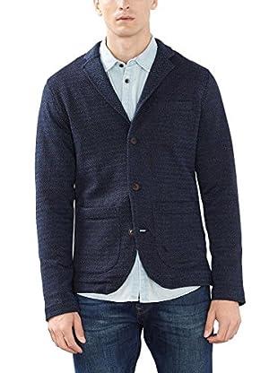 ESPRIT Herren Sakko aus Baumwoll Jersey, Blau (Navy 400), 54 (Herstellergröße: XXL)