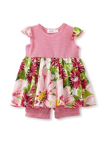 Jupon Baby Samantha Flutter Sleeve Skirted Romper (Pink)