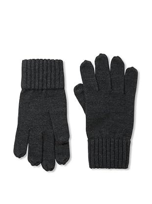 Portolano Men's Ribbed Gloves (Charcoal)