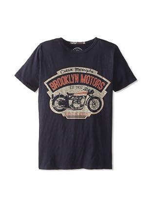 Brooklyn Motors Men's Garage Crew Neck T-Shirt (Blue)