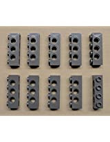 X10 New Leego Technic Brick 1x4 1 X 4 With Holes Dark Bluish Gray