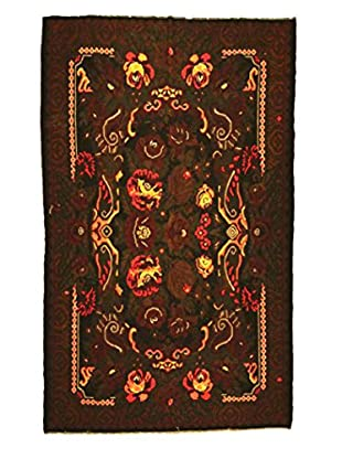 nuLOOM One-of-a-Kind Jardin Hand-Knotted Vintage Bessarabian Kilim, Midnight, 6' 9