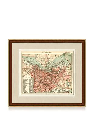 Antique Amsterdam 1890's Map
