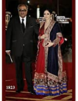 1018- Sridevi In Red Anarkali At The Marrakech International Film Festival
