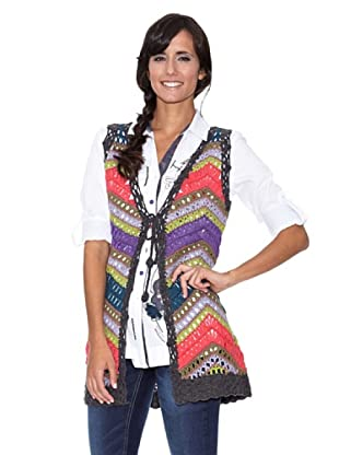 Peace & Love Chaleco Crochet Multicolor (Multicolor)