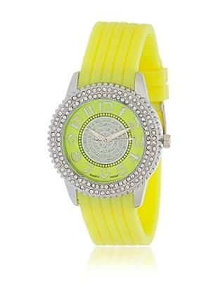 My Silver Reloj Reloj Plata y Amarillo con Esfera Strass