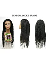 Sensationnel Empress Senegal Collection Braided Lace Wig Senegal Locks (1 Jet Black)