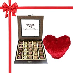 25Pc Yummy Belgium Chocolates with Pillow