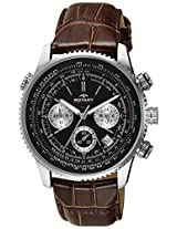 Rotary Analog Black Dial Men's Watch-GS0010004BRN