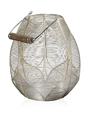 Lazy Susan Silver Wire Palm Basket