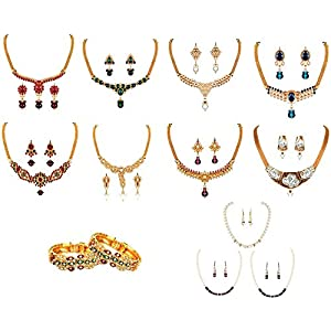 Get Multi Colored Jewellary Collection By Variation