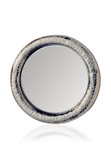Made Goods Benet Hammered Brass Mirror (Shiny Silver)