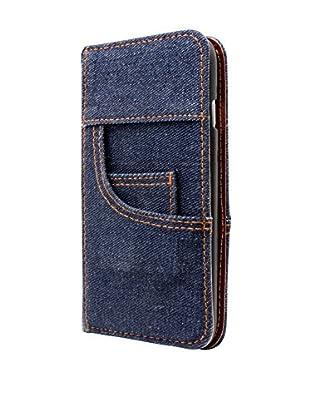 NUEBOO Hülle Jeans iPhone 5/5S/Se blau