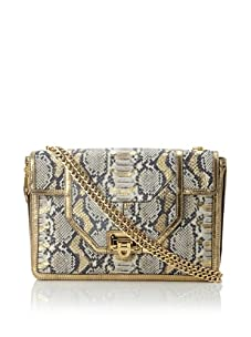 Rebecca Minkoff Women's Allie Convertible Handbag with Zippered Gussets, Gold/Exotic Python