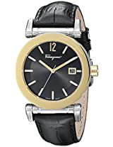 Salvatore Ferragamo Mens FP1930014 Salvatore Analog Display Quartz Black Watch