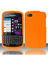 Phone Case Blackberry Q10 Orange Silicone Gel Skin Soft Rubber Protector Cover