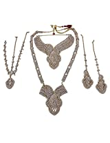 MUCHMORE Traditional Fashion Full Bridal Necklace Set For Women's Wedding Jewelry