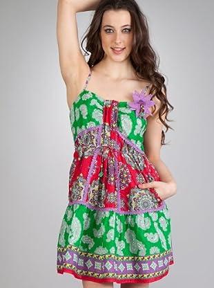 Flamenco Vestido Picasso (rojo / verde)