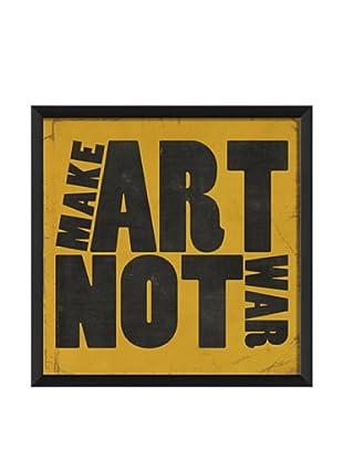 The Artwork Factory Make Art Not War Framed Giclée, Yellow
