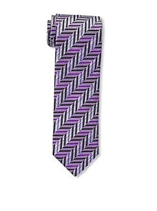 Missoni Men's Dot Zig Zag Tie, Purple