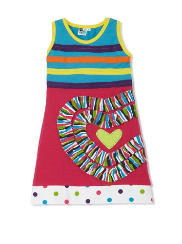 Nifunifa Girls Dorothy Dress (Blue/Pink)