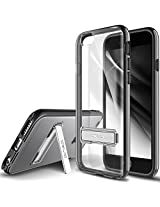 iPhone 6S Case, OBLIQ [Naked Shield][Black][Metal Kickstand] Thin Slim Fit Crystal Clear Case + TPU Bumper Armor Scratch Resist Protection Hybrid case for Apple iPhone 6S (2015) & iPhone 6 (2014)