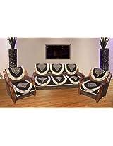 Hargunz Dark chocolaty 5 seater sofa cover set