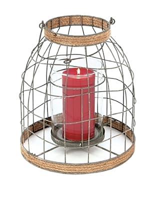Skalny Large Round Metal/Glass Lantern