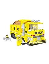 Fun Blox Construction Truck Block Set, Multi Color (269 Pieces)