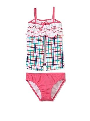 Azul Swimwear Girl's Life's A Picnic Open Tankini (Pink)