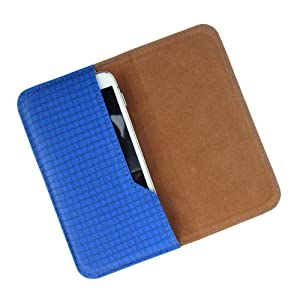 i-KitPit : PU Leather Flip Pouch Case Cover For HTC Desire 501 (BLUE)