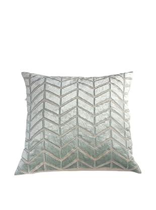 Filling Spaces Hand Appliqué Pillow, Seafoam