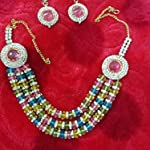 Multi Crystal Stainless Steel Glass Fashion Necklace