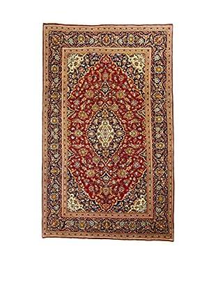 Eden Teppich M.Kashan rot/braun/blau 310 x 195 cm