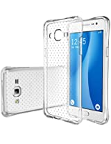 On7 Case, E LV Galaxy On7 Case Cover - Clear Soft Rubber Hybrid ARMOR Defender PROTECTIVE Case COVER for Samsung Galaxy On7- CLEAR
