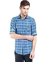 Vintage Blue Slim Fit Shirts