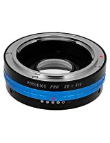 Fotodiox Pro Lens Mount Adapter - Mamiya 35mm (ZE) SLR Lens to Nikon F Mount SLR Camera Body with Built-In Aperture Control Dial