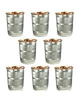 Dakshcraft ® Drinkware Accessories Handmade Copper Tumblers, Set of 8