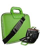 """SumacLife Green Reinforced Travel Cady Shoulder Bag fits Visual Land : Premier ( 10 , 9 ), Prestige Prime 10ES , Prestie Elite 10QS 10QL , 10.1"""" Tablets"""
