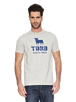 Toro Camiseta Casual (Gris)