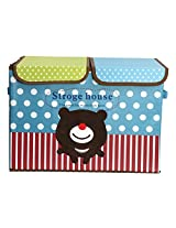 UberLyfe Foldable Kids Storage Box Organizer- Double Flap - Large (Cuddly Bear)