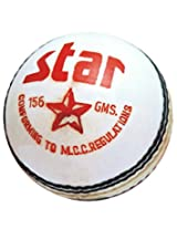"Cricket Ball Star White ""CW""(Pack Of 3)"