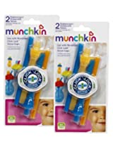 Munchkin Click Lock Replacement Straws, 4-Count (Blue/Orange)