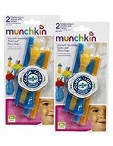 Munchkin Click Lock Replacement Straws, 4-Count (Blue/Orange)
