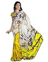 Aagaman Fashions Faux Georgette Sarees (TSN43008B_Yellow)