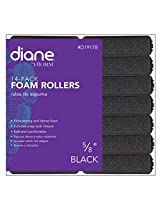 "Diane Foam Rollers, Black, 5/8"", 14/bag"